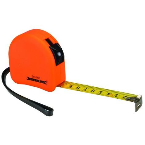 Mètre profilé fluo 5 m x 19 mm