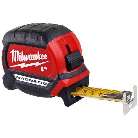 Mètre ruban 8M premium - MILWAUKEE - 4932464600