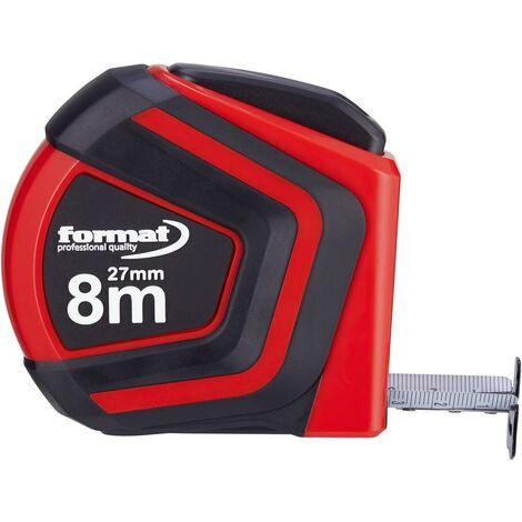 Mètre-ruban de poche Autolock 8mx27mm blanc FORMAT 1 PCS