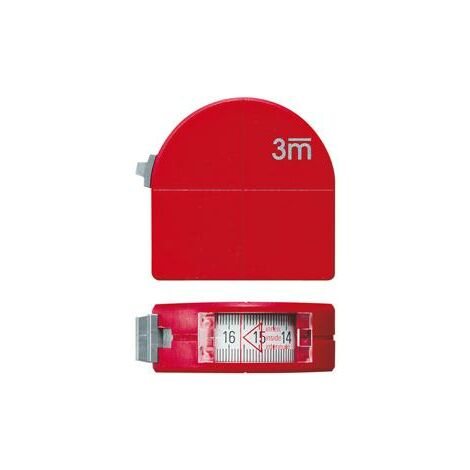 Mètre-ruban de poche avec regard + fonction compas 3mx16mm FORMAT 1 PCS