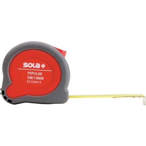Mètre ruban Popular 5m x 19mm Sola