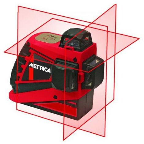 Metrica - Niveau laser rouge 3D Haute Puissance portée 20 m - JUNIOR