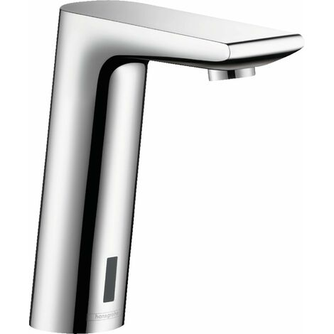 Metris S Robinetterie électronique pour lavabo sans manette de réglage de température sur batterie chromé