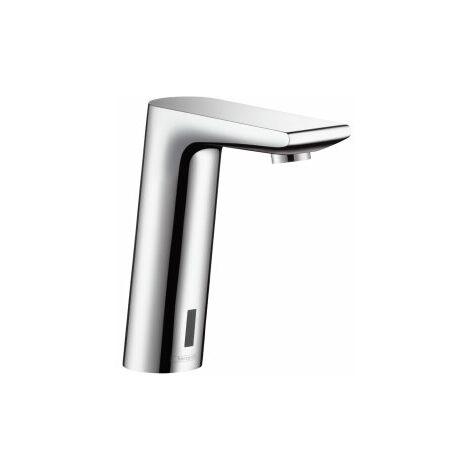 Metris SMezclador electrónico de lavabo con pila 6V y regulación de temperatura programable.