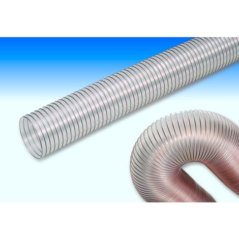 Metro de tubo flexible transparente de aspiración de 100 mm de diámetro interior