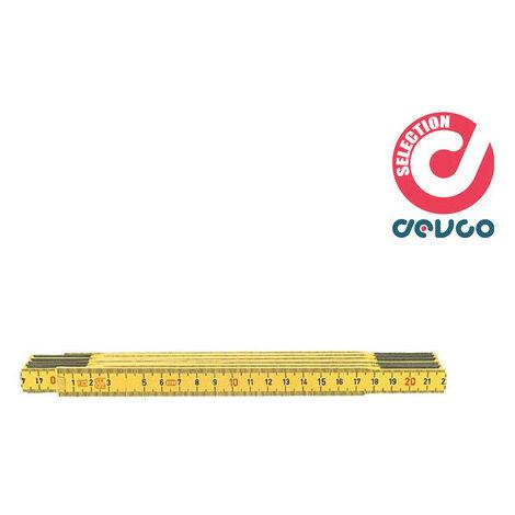 """main image of """"Metro pieghevole in legno giallo 2 m HOFFMANN - 466000 2"""""""