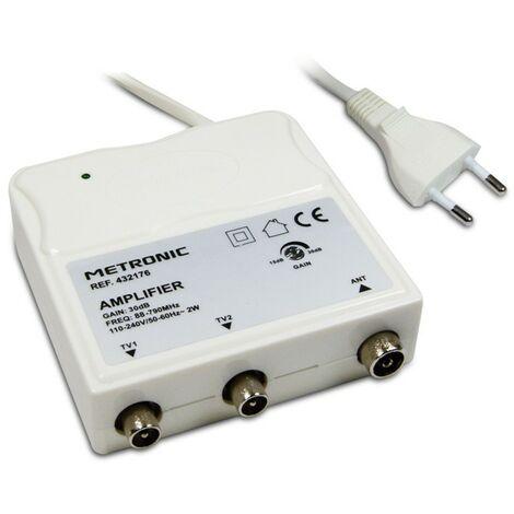 "main image of ""Metronic - Amplificador de interior con ajuste de ganancia FM / UHF, 4G"""