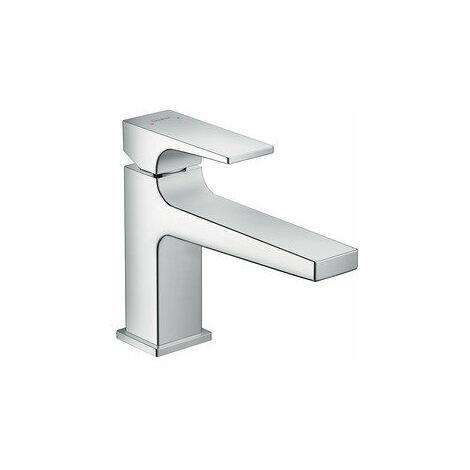 Metropol 100 Mitigeur de lavabo poignée étrier bec long, bonde Push-Open chrome (74502000)