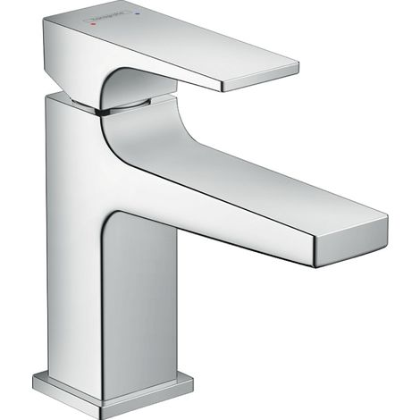 Metropol Single lever basin mixer 100 with loop handle and push open waste chrome (74502000)