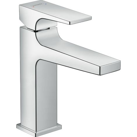 Metropol Single lever basin mixer 110 CoolStart with lever handle and push-open waste set (32508000)
