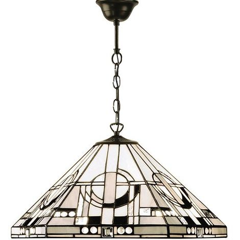 Metropolitan Ceiling Pendant Light Tiffany Geometric Design Glass Shade