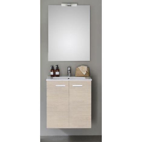 Meuble 2 portes, 60 cm ALTERNA CONCERTO Bois clair, Ref.106070562