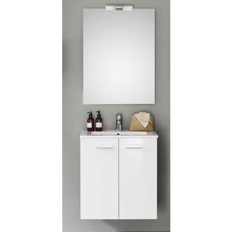 Meuble 2 portes ALTERNA , 60 cm CONCERTO Laque blanc, Ref.106070011