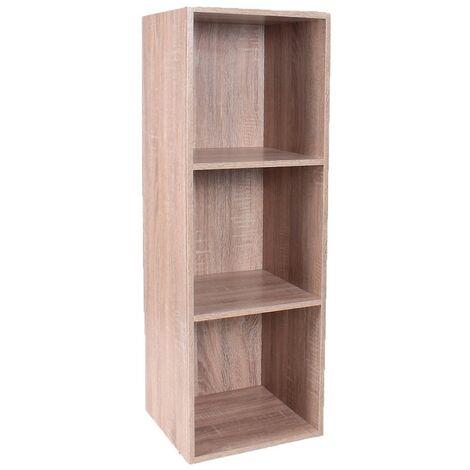 Meuble 3 cases avec fond 32 x 30 x 94 cm - Casâme - Bois clair