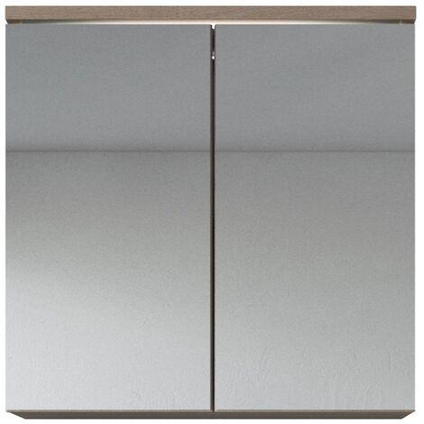 Meuble a miroir 60x59 cm Toledo Bodega - Miroir armoire miroir salle de bains verre armoire de rangement