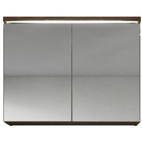 Meuble a miroir 80x60 cm Bodega - Miroir armoire miroir salle de bains verre armoire de rangement