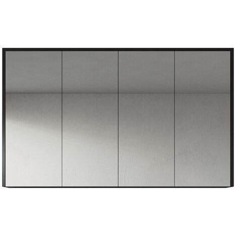 Meuble a miroir Cuba 60x72 cm Chene gris - Miroir armoire miroir salle de bains verre armoire de rangement