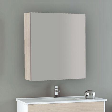 Meuble à miroir murale 60cm – 1 porte