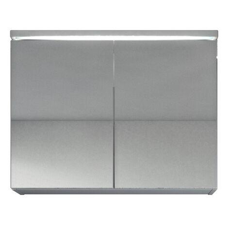 """main image of """"Meuble a miroir Paso 80x60 cm - Blanc - Miroir armoire miroir salle de bain - Blanc"""""""