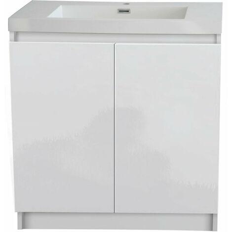 Meuble ALTERNA Primeo 80 cm au sol 2 portes blanc