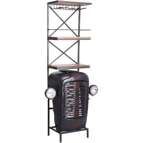 Meuble bar tracteur Noir - Noir