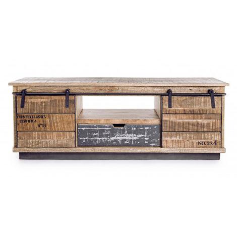 Meuble bas avec 2 portes et 1 tiroir - Dim : L 130 x P 40 x H 50 cm