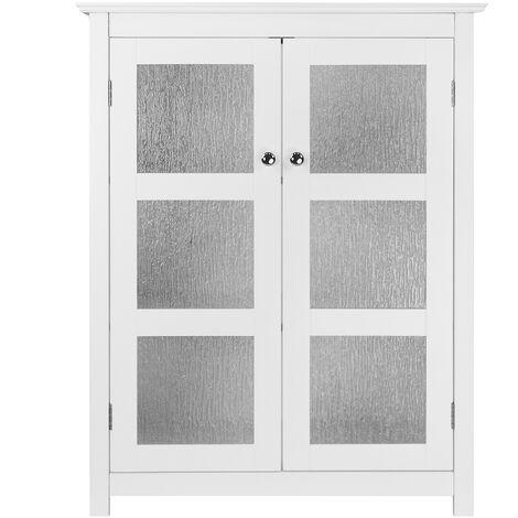 Meuble bas de rangement de salle de bain blanc Connor Elegant Home Fashions ELG-580