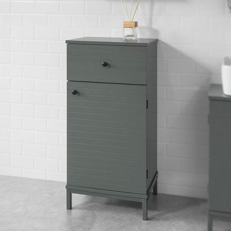 Meuble Bas de Salle de Bain Armoire Toilette avec 1 Tiroir ...