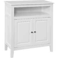 Meuble Bas de Salle de Bain Armoire Toilette Buffet commode – Blanc FRG204-W SoBuy®