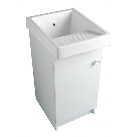 Meuble blanc pour bac à laver