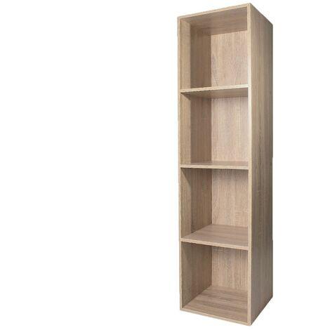 Meuble case - 4 cases avec fond - Rangement pratique et malin