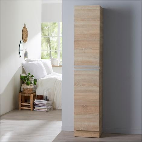 Meuble colonne à poser Oak bordolino Hauteur 180 cm - DYNAMIC