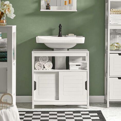 Meuble Colonne de Salle de Bain Armoire Haute – 4 étagères et 2 tiroirs,SoBuy® FRG126-SG