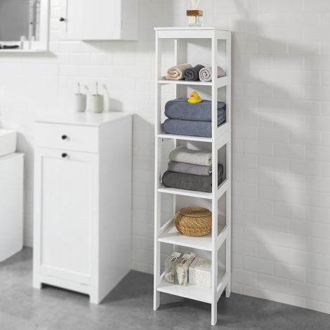 meuble colonne de salle de bain armoire haute tag re de. Black Bedroom Furniture Sets. Home Design Ideas