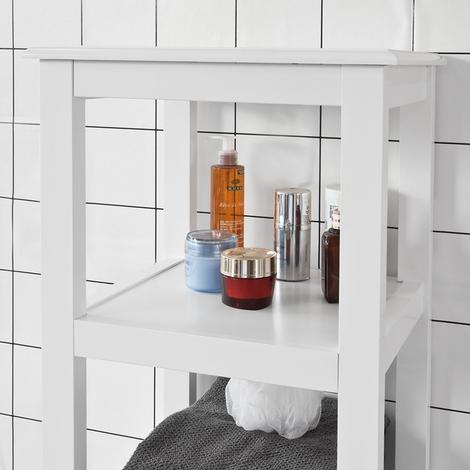 Meuble Colonne de Salle de Bain Armoire Toilette haute – Blanc ...