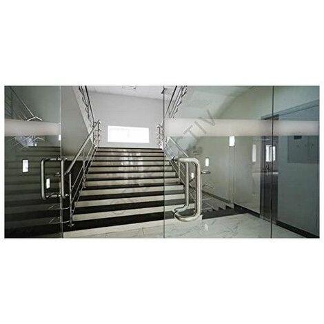 Meuble Colonne de Salle de Bain pivotant - 4 étagères + 2 miroirs - Coloris Blanc