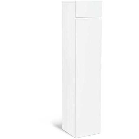 Meuble colonne suspendu blanc LILA pour salle de bain