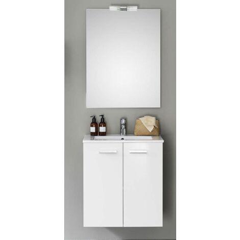 Meuble CONCERTO 60 cm ALTERNA 2 portes blanc brillant