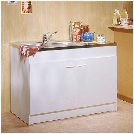 Meuble cuisine sous évier 2 ou 3 portes 6 largeurs au choix sim