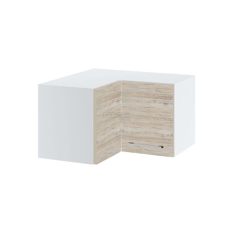 Cuisineandcie - Meuble d'angle haut SLIM de cuisine - 2 portes, L 60/60 cm - Noyer blanchi.