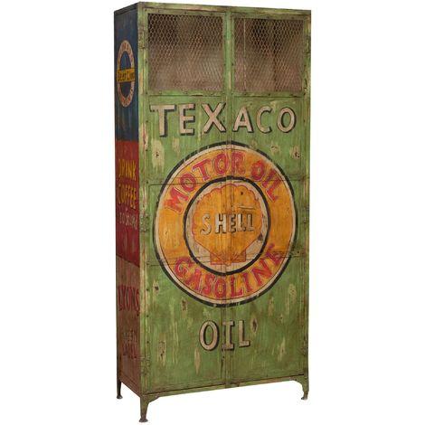 Meuble d'atelier texaco oil en fer fait à main