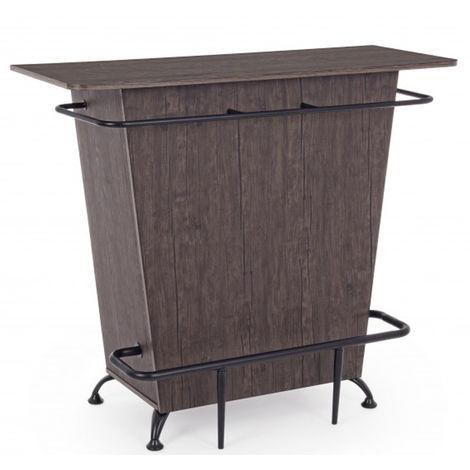 Meuble de bar en bois MDF - Dim : L 120 x P 48 x H 104 cm