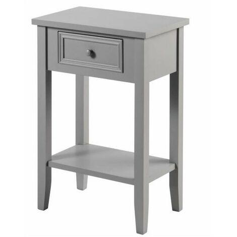 Meuble de chevet - Table de nuit - Taupe - 1 tiroir + 1 étagère - Livraison gratuite
