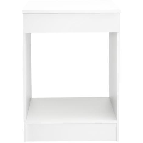 Meuble de cuisine bas pour four coloris blanc - Dim : L.60 x H.86 x P.60cm -PEGANE-