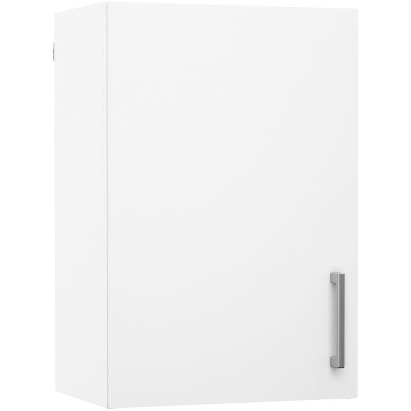 Pegane - Meuble de cuisine haut 1 porte coloris blanc - Dim : L40 x P28 x H40 cm