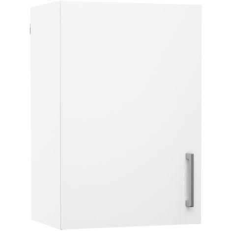 Meuble de cuisine haut 1 porte coloris blanc - Dim : L40 x P28 x H40 cm -PEGANE-