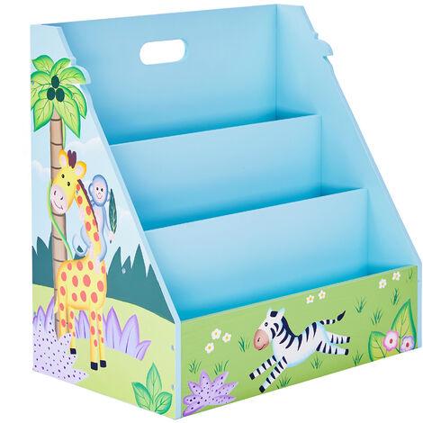 Meuble de rangement livres magazines étagère bibliothèque enfant garçon Sunny Safari Fantasy Fields TD-13141A