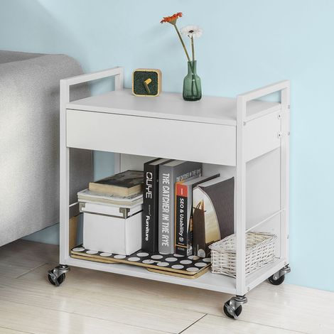 Meuble de rangement Multi-usages Chariot de cuisine de service roulant Meuble Armoire de rangement sur roulettes - Blanc SoBuy® FKW50-W