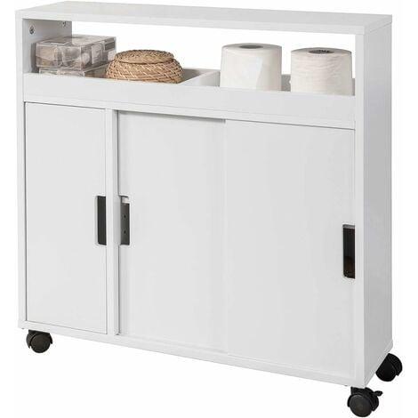 Meuble de rangement salle de bain armoire wc meuble wc pour papier toilette porte brosse wc - Meuble pour les toilettes ...