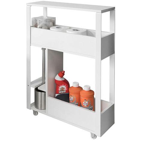 meuble de rangement salle de bain support papier toilette. Black Bedroom Furniture Sets. Home Design Ideas